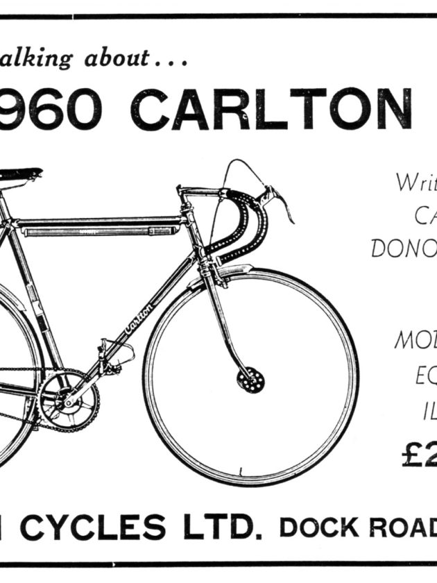 1960 Carlton Sprinter Advertisement (Carlton Cycles: Foundation for Greatness)