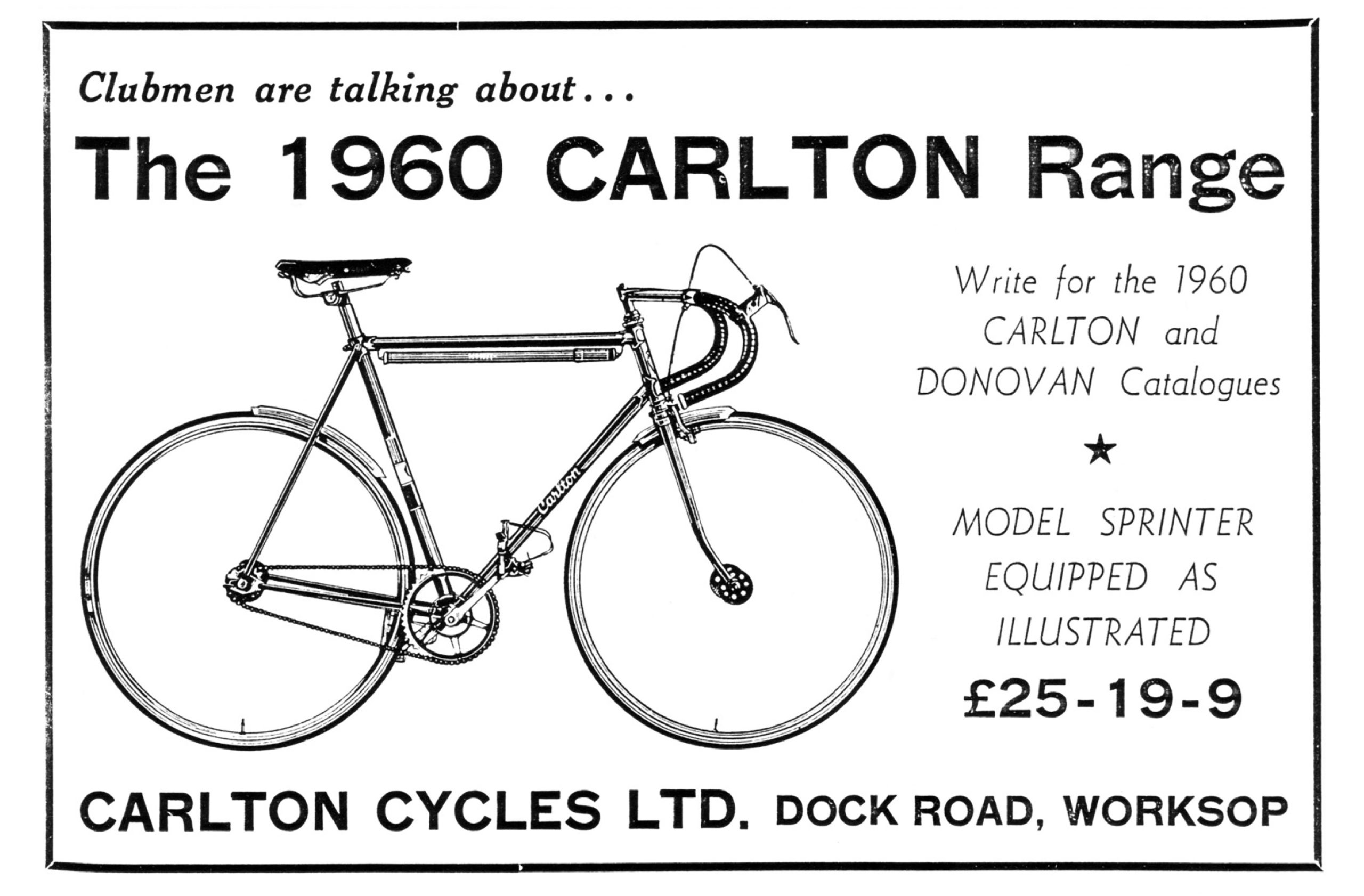 1960 Carlton Sprinter Advertisement