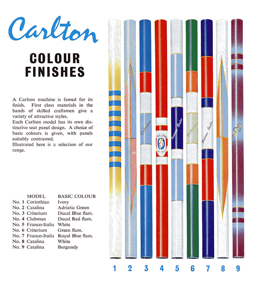 1962 Carlton Catalog Colour Finishes
