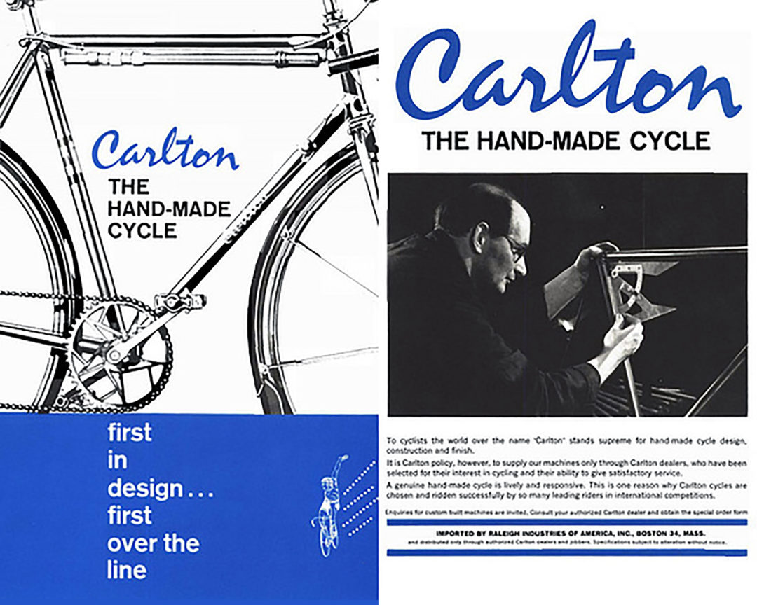 Carlton USA Hand Made Cycle Advertisement