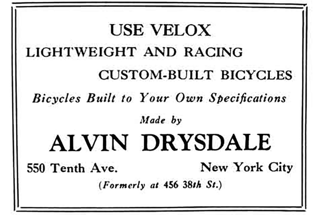 Velox Bicycles by Alvin Drysdale Advertisement