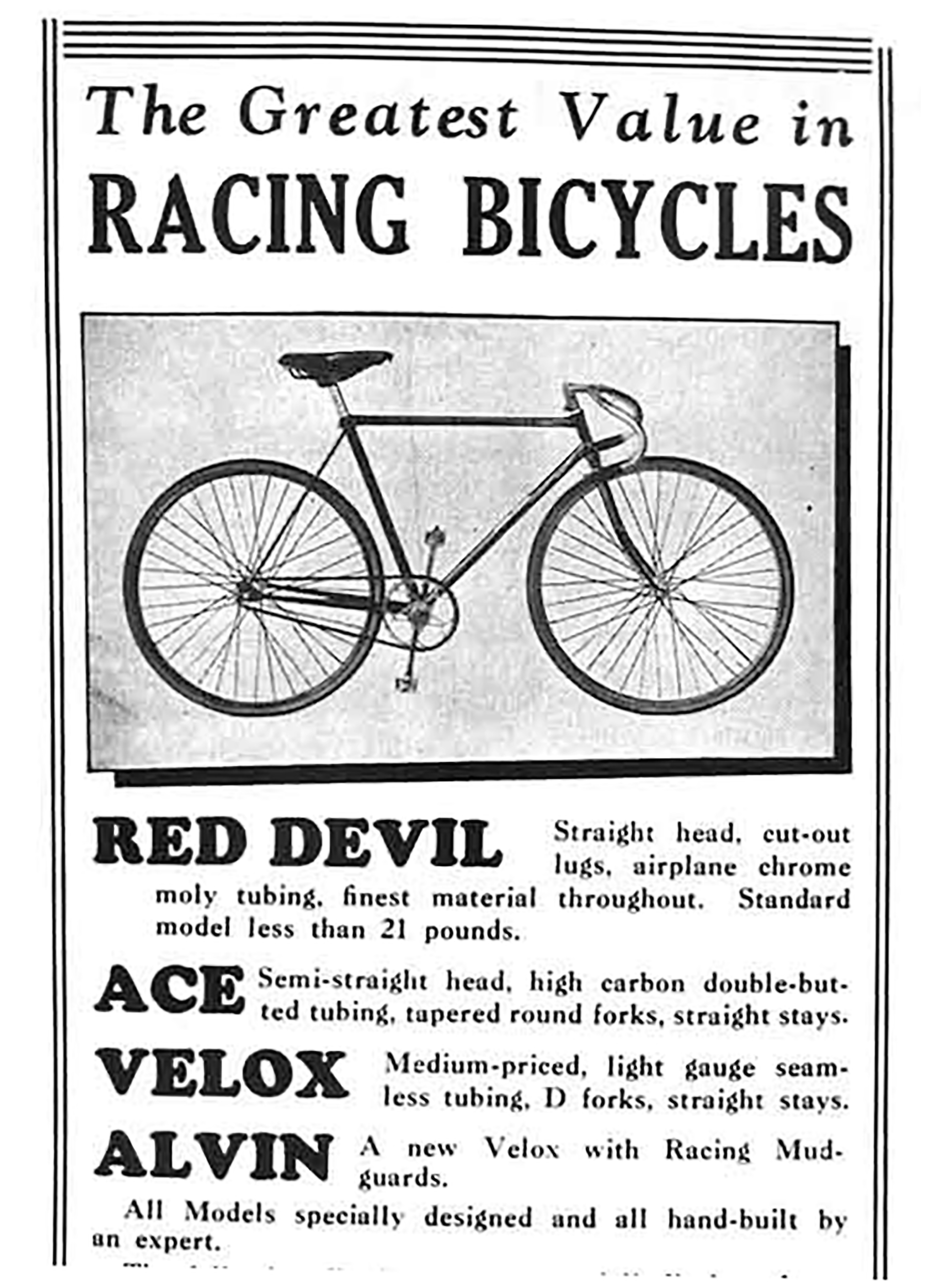 Drysdale Red Devil, Ace, Velox & Alvin Advertisement