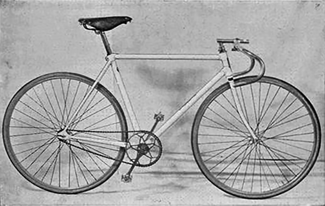 Alvin Drysdale White Flyer Track Bicycle