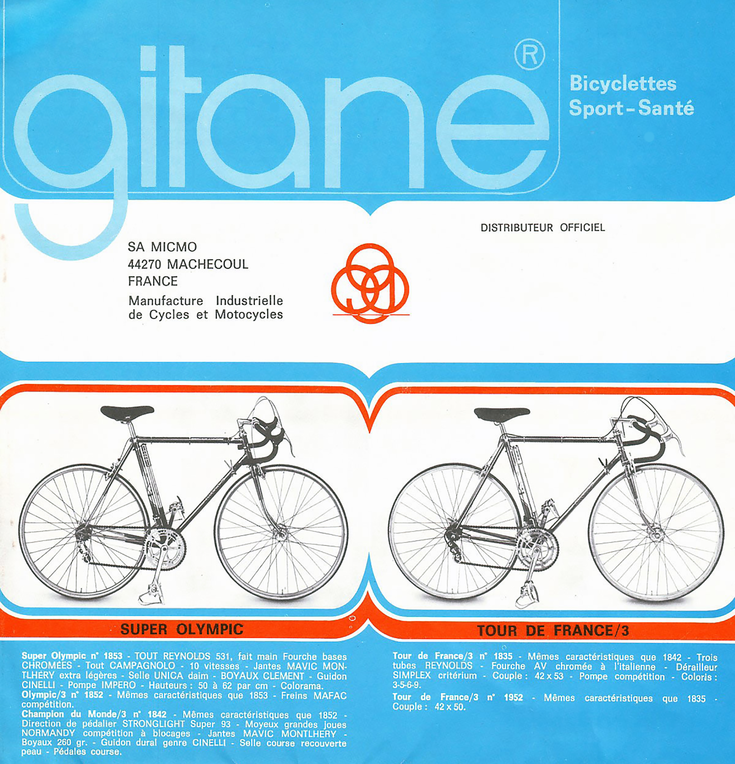 Gitane France 1973 Catalog Page 1