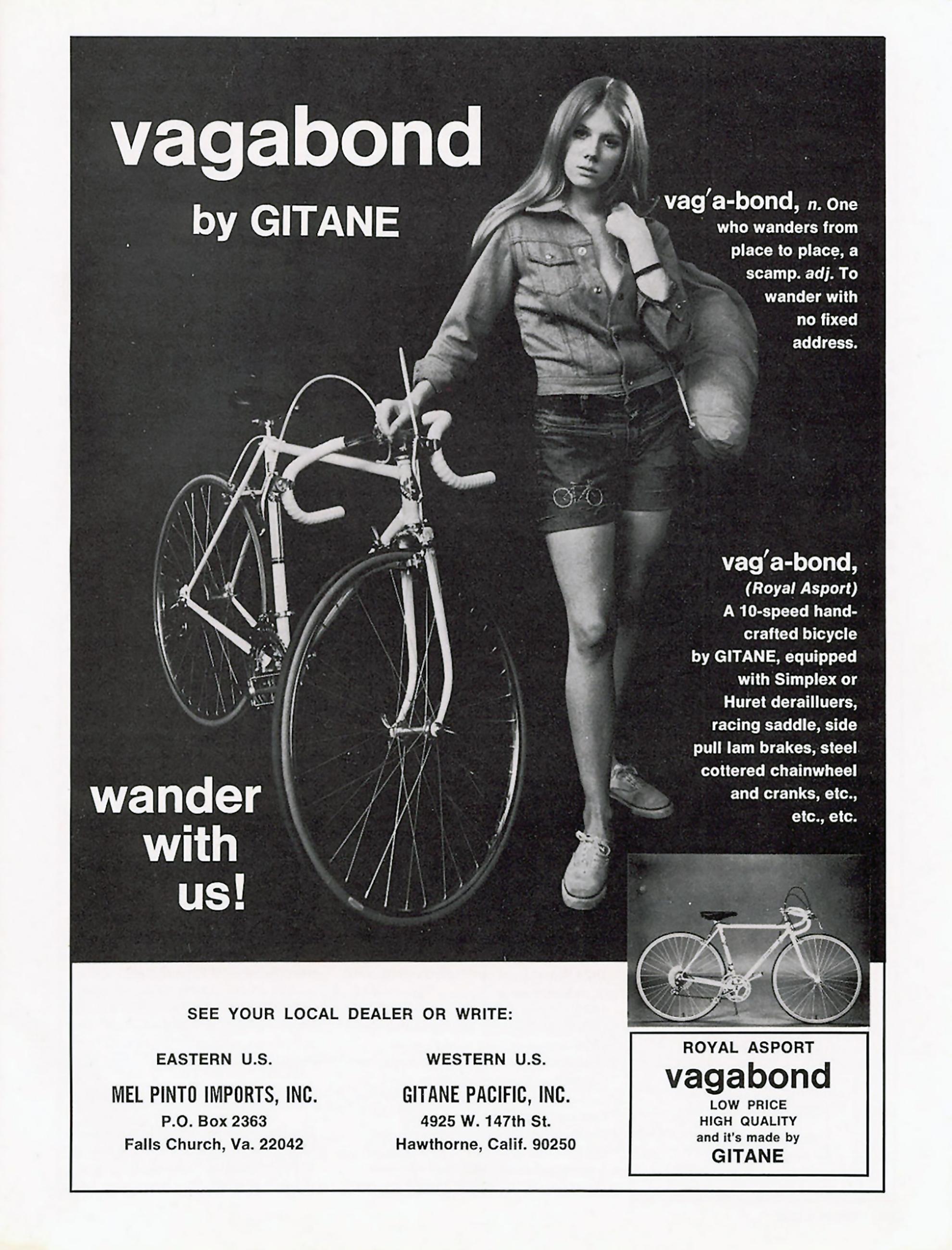 Gitane 1970 Mel Pinto Imports Advertisement 1