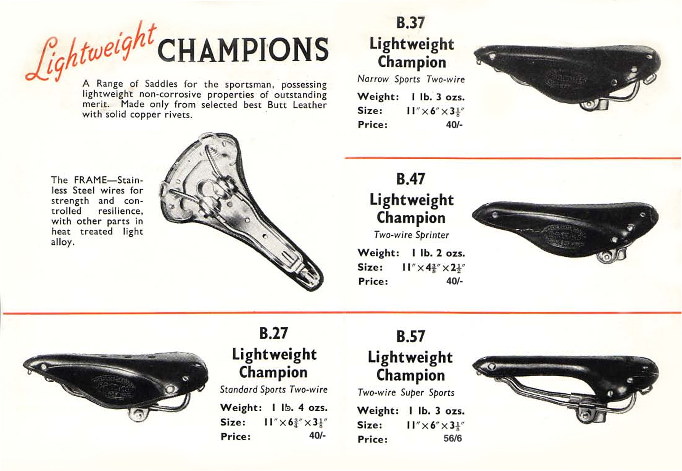 ebykr-brooks-b27-b37-b47-b57-saddles-1950-catalog