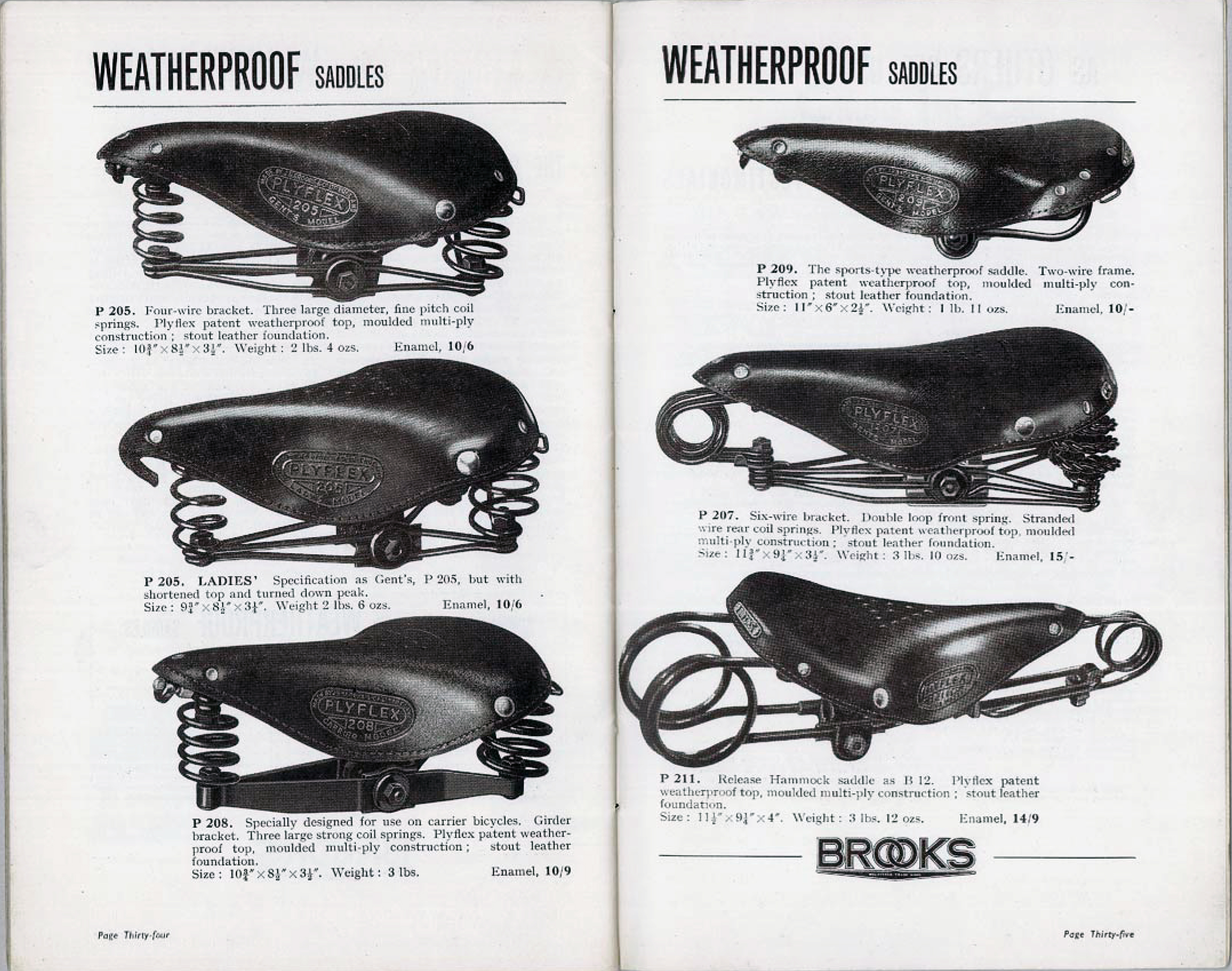 ebykr-brooks-plyflex-saddles-1937-catalog-pages-34-35