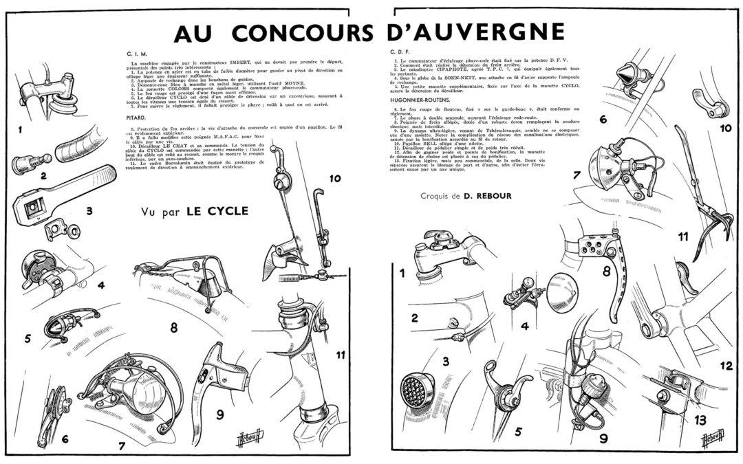 ebykr-daniel-rebour-au-concours-d-auvergne-cdf-9-1-1949 (Random Rebour: Random Bicycle Drawing by Daniel Rebour)