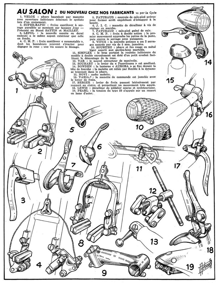 ebykr-daniel-rebour-au-salon-du-nouveau-chez-nos-fabricants-12-2-1948 (Random Rebour: Random Bicycle Drawing by Daniel Rebour)