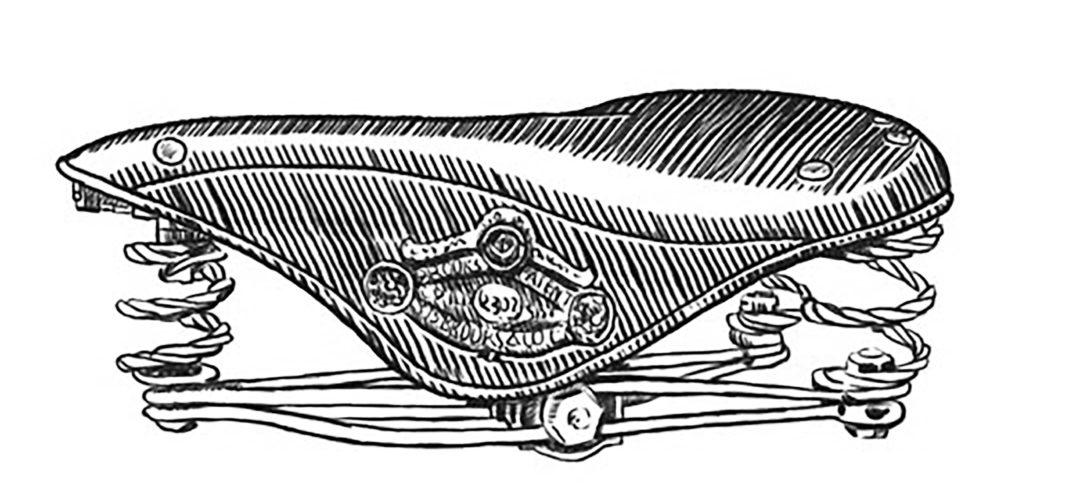 ebykr-daniel-rebour-brooks-saddle (Random Rebour: Random Bicycle Drawing by Daniel Rebour)