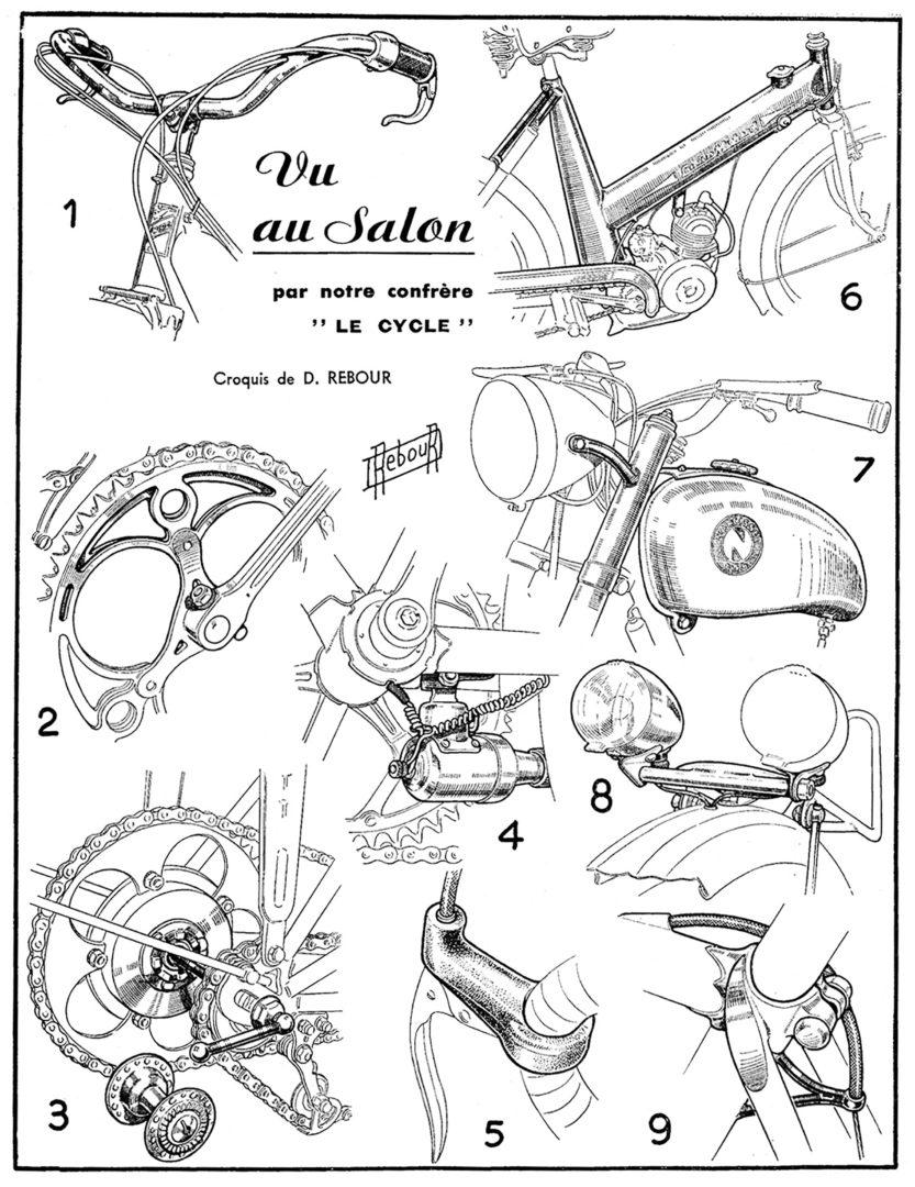 ebykr-daniel-rebour-vu-au-salon-11-3-1951 (Random Rebour: Random Bicycle Drawing by Daniel Rebour)